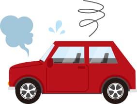 身体の不調を車で例えたイメージ写真