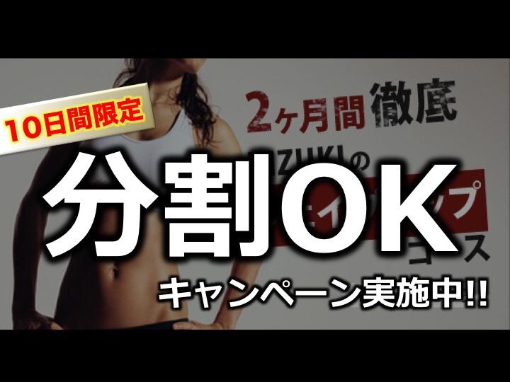 【2ヵ月ダイエットのコツ】10日間限定分割キャンペーン!