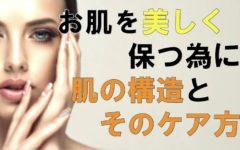 お肌を美しく保つために!肌の構造とそのケア方法