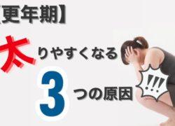 【更年期大人の女性のダイエット】40代から太りやすくなる3つの原因!!